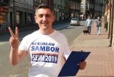 Wybory parlamentarne 2019. Brzesko. Bogusław Sambor: Uśmiech na twarzy, ulotka w ręce i do ludzi!