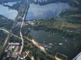 Jak widać panoramę Sosnowca ze sterowca Zeppelin? Stadion, Stawiki, Naftowa, Piastów, ślimak i żyleta. Sprawdźcie zdjęcia!