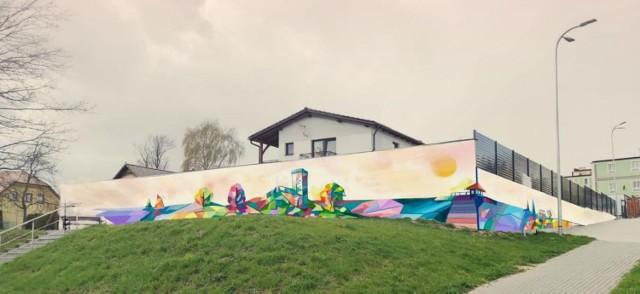 Projekt nowego murala w Człuchowie