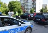 Wypadek w Kielcach. Motocykl wjechał w mercedesa [ZDJĘCIA]