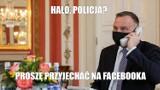 Andrzej Duda pokazuje, jak rozmawiać przez telefon w reżimie sanitarnym MEMY. Internauci kpią z rozmowy prezydenta z królem Jordanii