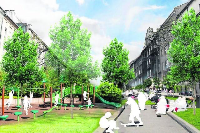 Wizja studentów. Na Alejach chcą zwęzić pasy ruchu, oddać więcej miejsca pod zieleń i przestrzeń dla mieszkańców