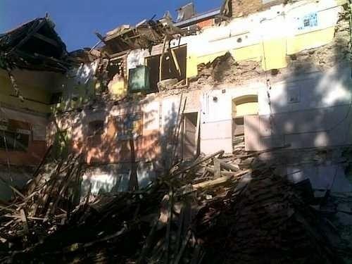 Budynek szkoły po wybuchy gazu