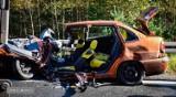 Groźny wypadek na trasie Wrocław-Kłodzko. Kobieta jechała z dziećmi. Doszło do czołówki z ciężarówką