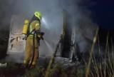 Gmina Chocz. Pożar samochodu dostawczego na drodze gruntowej łączącej Chocz z Józefowem