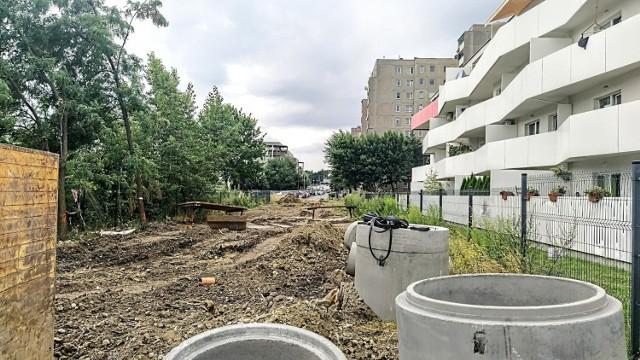 Budowa drogi na Malince w Opolu.