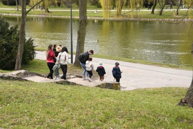 W niedzielę 11 kwietnia mieszkańcy Kielc korzystając z niezłej pogody wybrali się na spacery do Parku Miejskiego lub nad zalew.   W parku było wiele rodzin z dziećmi, które karmiły kaczki i gołębie. Z kolei nad zalewem widzieliśmy spacerowiczów i biegaczy.    ZOBACZCIE NA KOLEJNYCH SLAJDACH>>>