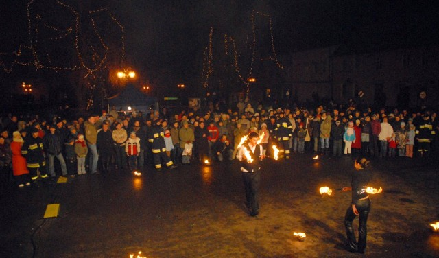 """W ubiegłym roku w Margoninie odbyła sie impreza pod hasłem ,,Magia ognia"""""""