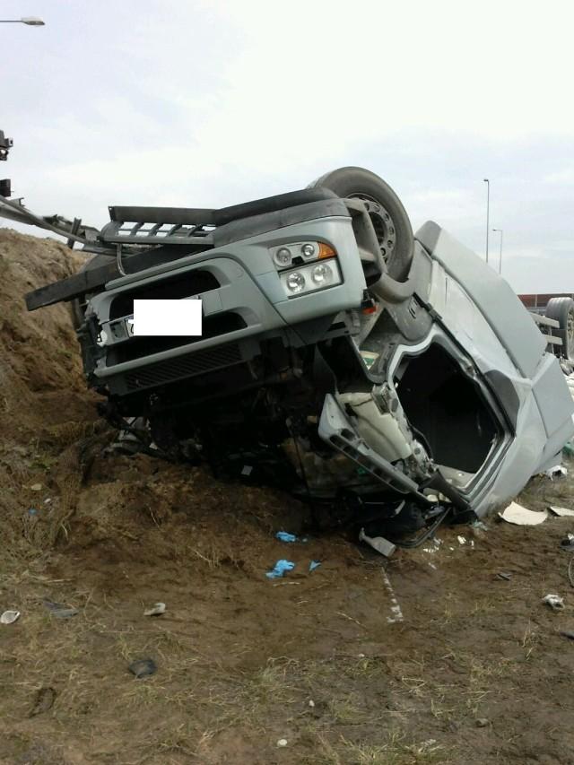 Śmiertelny wypadek w Nowym Ciechocinku na węźle autostrady A1