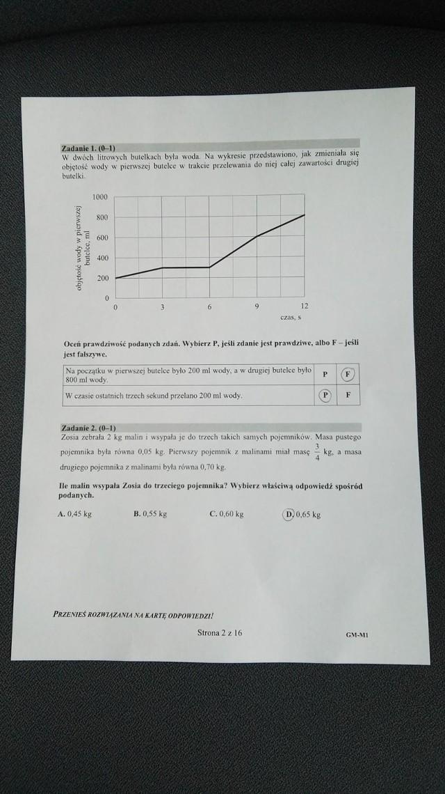 Egzamin gimnazjalny 2019 z matematyki ODPOWIEDZI