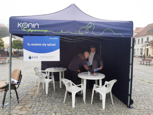 Punkt spisowy na rynku w Koninie