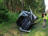 Dwa tiry i bus zderzyły się na trasie Szumirad - Chudoba. Groźny wypadek w powiecie kluczborskim