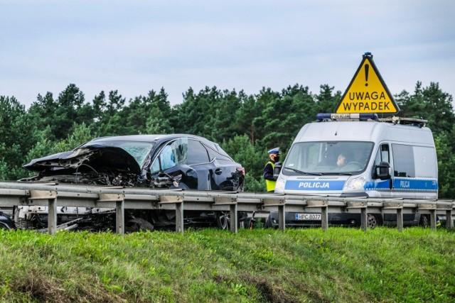 Na zdjęciu śmiertelny wypadek z września 2020 roku na S10, na obwodnicy Torunia