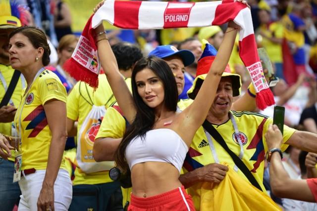 Miss Mundialu 2018. Nasi zawiedli w meczu Polska - Kolumbia, ale ona nie... [ZDJĘCIA]