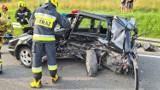 Paszyn wypadek. Trzy osoby poważnie ranne w zderzeniu trzech samochodów. Na miejscu helikopter LPR [ZDJĘCIA]