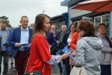 """Akcja """"Łączy nas Polska"""" w Bełchatowie. Politycy zachęcali do głosowania na Andrzeja Dudę"""