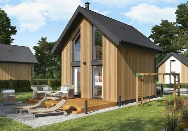 Domek Lido o konstrukcji szkieletowej drewnianej. Budowa na zgłoszenie, czyli jego powierzchnia zabudowy nie przekracza 35 m kw. Szacunkowy koszt budowy to 54 tys. zł.