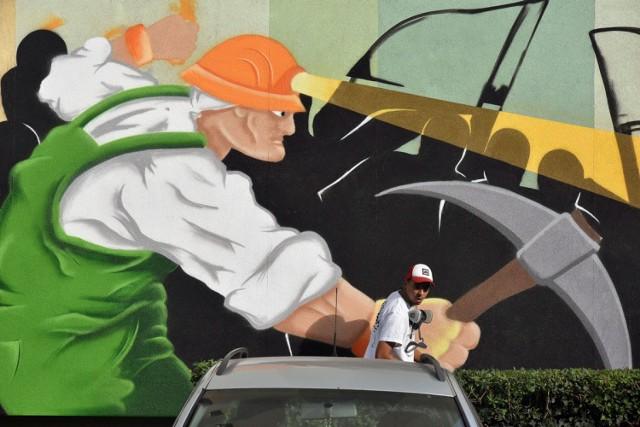 Powstają nowe murale w Lubinie, są interesujące.