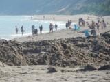 Piękna, szeroka plaża w Ustce. Refulacja na finiszu