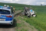W Nowej Wsi w gminie Jabłonowo Pomorskie powiecie brodnickim betoniarka wywróciła się do rowu. Kierowca trafił do szpitala