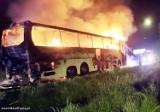 Pożar autokaru w Imielinie. Doszło do zwarcia instalacji elektrycznej
