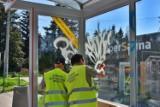 Warszawa walczy z nielegalnym graffiti. Wandale masowo niszczą wiaty przystankowe i kosze na śmieci