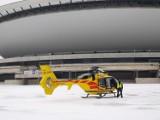 Wypadek w Katowicach na budowie KTW. Mężczyzna spadł z wysokości trzeciego piętra, lądował śmigłowiec