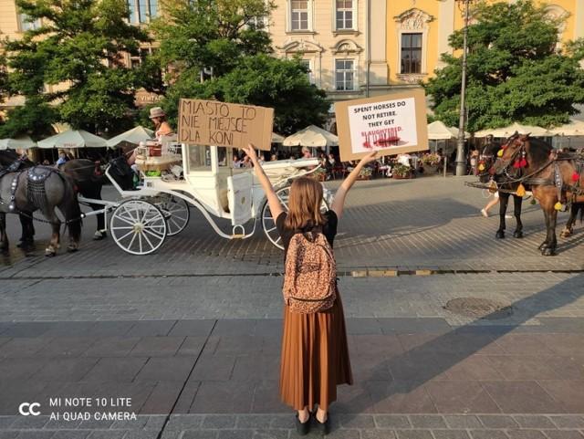 """""""Będziemy protestować, aż do zakończenia eksploatacji koni przez dorożkarzy"""" - zapowiadają przedstawiciele grupy """"Wio z Krakowa"""""""