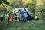 Wypadek koło Zielonej Góry, 40 kilometrów od Żar. 41 osób trafiło do szpitali po zderzeniu busa transportu medycznego z autobusem PKS