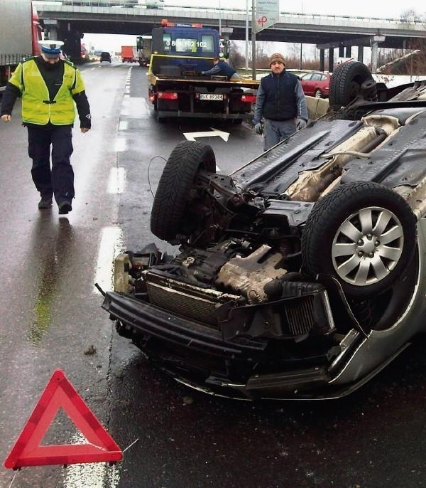 Każdy wypadek na DK1 skutkuje zakorkowaniem Tychów.