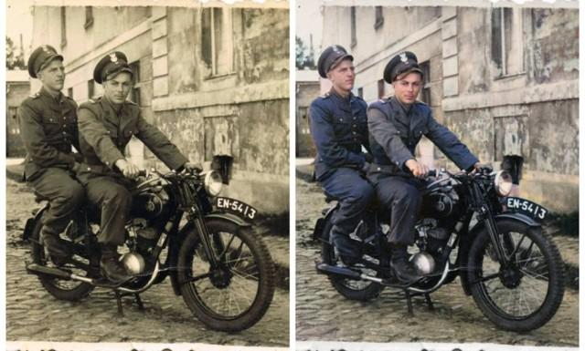 Mieszkańcy Krosna Odrzańskiego na starych zdjęciach, ale w kolorze!