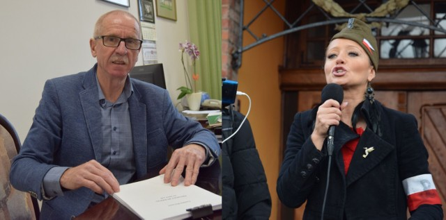 Burmistrz Mariusz Kieling i radna Monika Tkaczyk