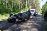 Gronowice: Zasnął za kierownicą i dachował
