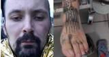 """Kim on jest?! Ma na stopie """"łapacza snów"""" i wiele innych niezwykłych tatuaży, milczy jak zaklęty. Policjanci ze Świebodzina proszą o pomoc"""