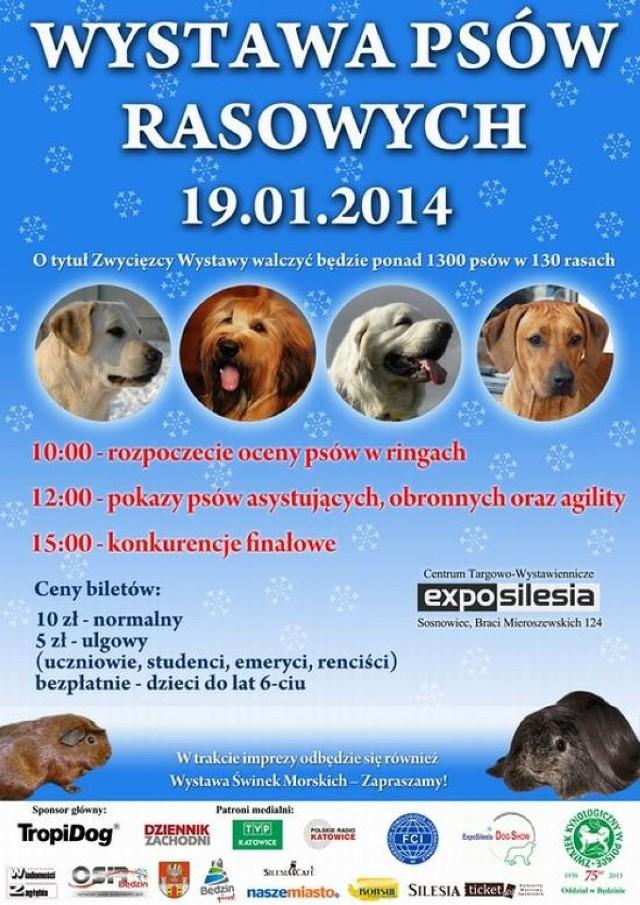 Wystawa Psów Rasowych odbędzie się w Expo Silesia