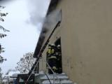 Pożar w Woli Wiązowej. Jedna osoba poszkodowana