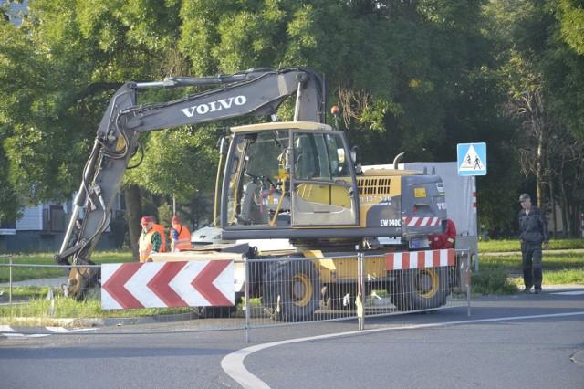 WPEC prowadzi prace przy wjeździe na Rondo