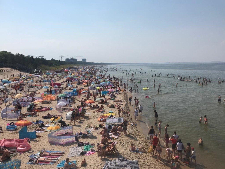W weekend cały Szczecin pojechał nad morze? Tak wyglądała plaża w Międzyzdrojach   Szczecin Nasze Miasto