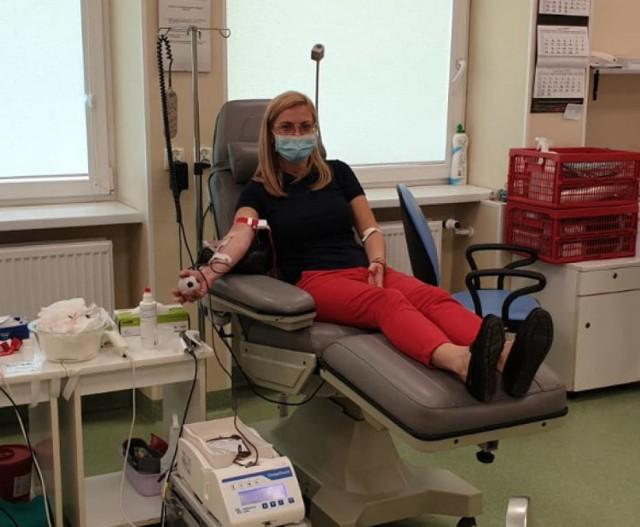 Podczas zbiórki krwi w czerwcu w ciągu jednego dnia udało się zebrać dla Nadii Przybyłowskiej 27 litrów krwi od 58 osób
