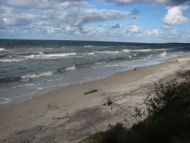 Plaża nad Bałtykiem.