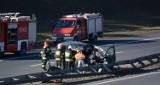 Poważny wypadek na A1 w Nowych Marzach. Dwie osoby w szpitalu [wideo, zdjęcia]