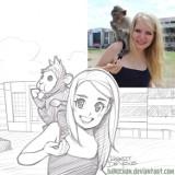 Zamienia zdjęcia zwierząt w niesamowite rysunki. Efekty są komiczne [GALERIA]