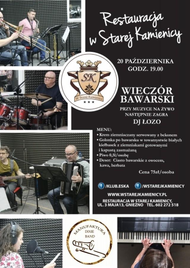 Zapraszamy serdecznie na kolejną tematyczną imprezę do Starej Kamienicy   Muzyka na żywo Menu w stylu bawarskim Dj Łozo.  Szczegóły na plakacie.