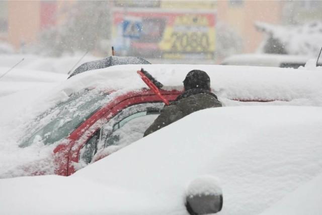 Śnieg w Wałbrzychu jeszcze w listopadzie