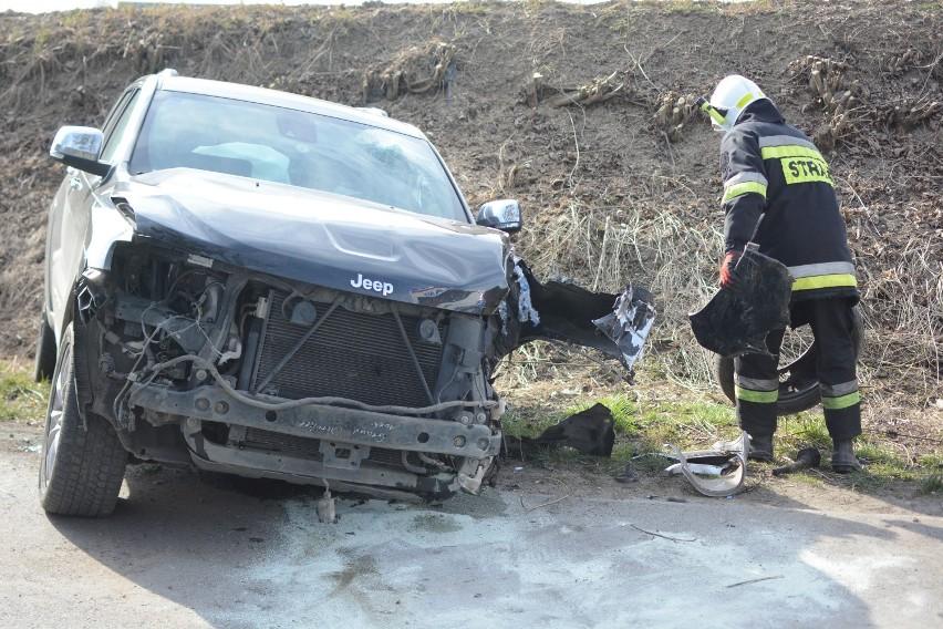 Samochód uderzył w drzewo w Grucie. Kierowca był nietrzeźwy [zdjęcia]