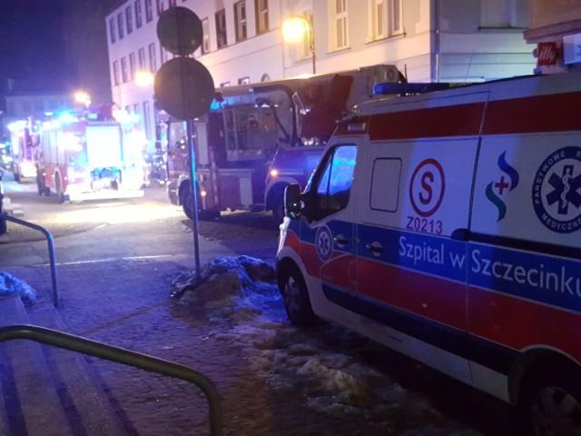 Strażacy na miejscu tragedii