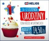 1 urodziny Kina Helios w Katowicach! Bilety w super cenach i moc atrakcji. Odwiedź kino 16-17 listopada