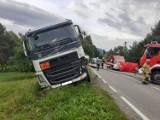 Wiśniowa. Śmiertelny wypadek na drodze wojewódzkiej 964. Droga była zablokowana przez kilka godzin