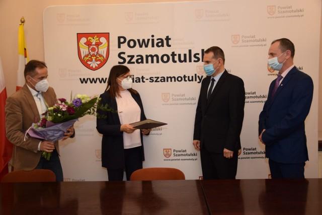 Samorządowcy pogratulowali Remigiuszowi Pawelczakowi objęcia nowej funkcji