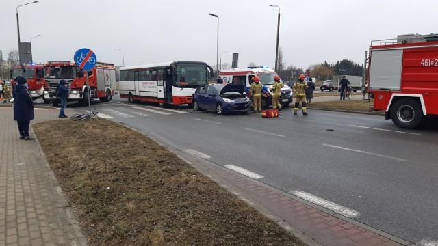 Wypadek na Rąbinie w Inowrocławiu. Zobaczcie zdjęcia >>>>